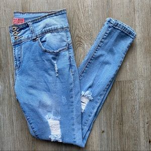 WAX JEAN | Distressed Butt, I Love You Jeans